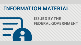 Brochures by the Federal Government (Refers to: Information material)